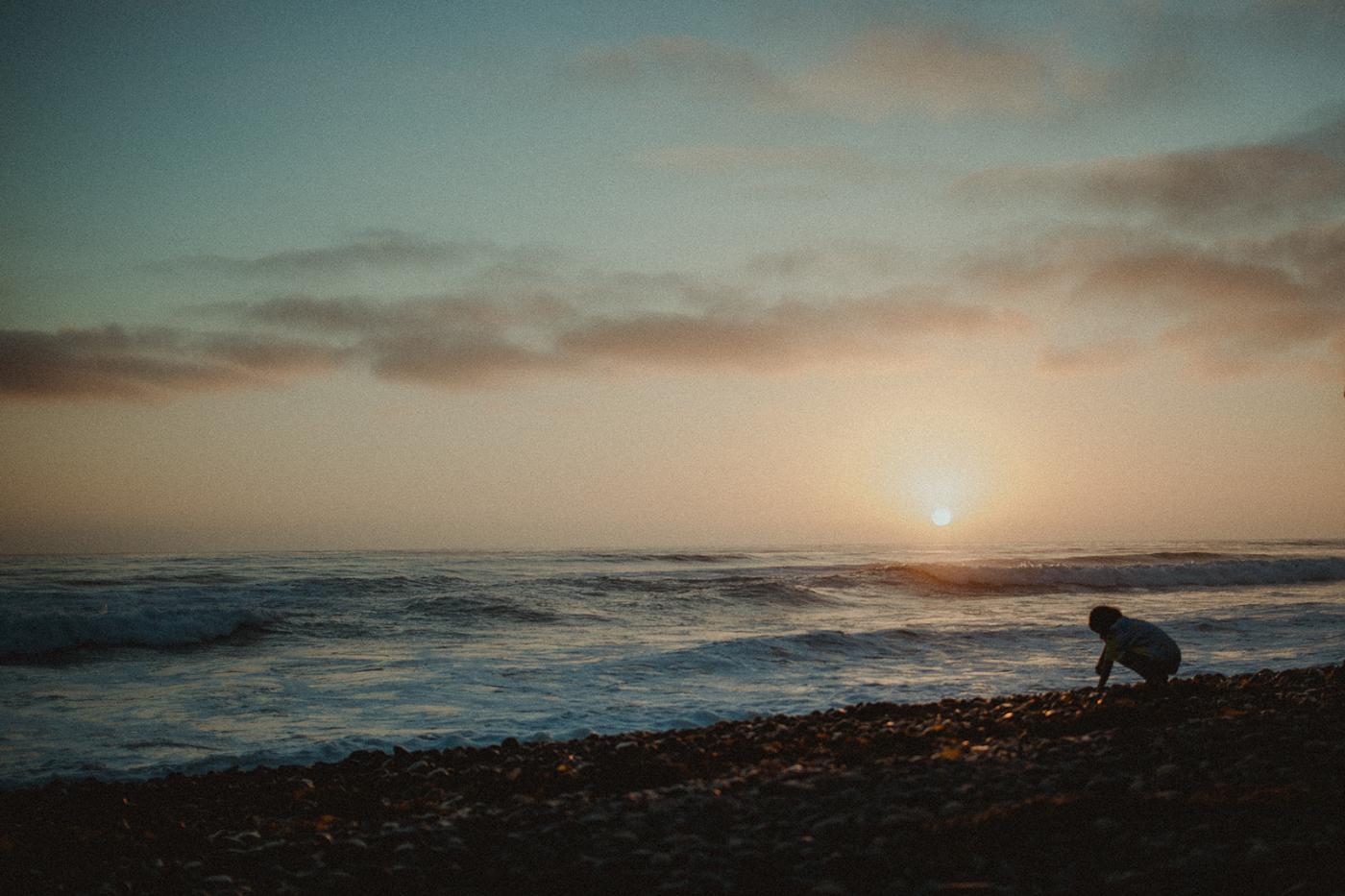 Light Chaser At Sunset