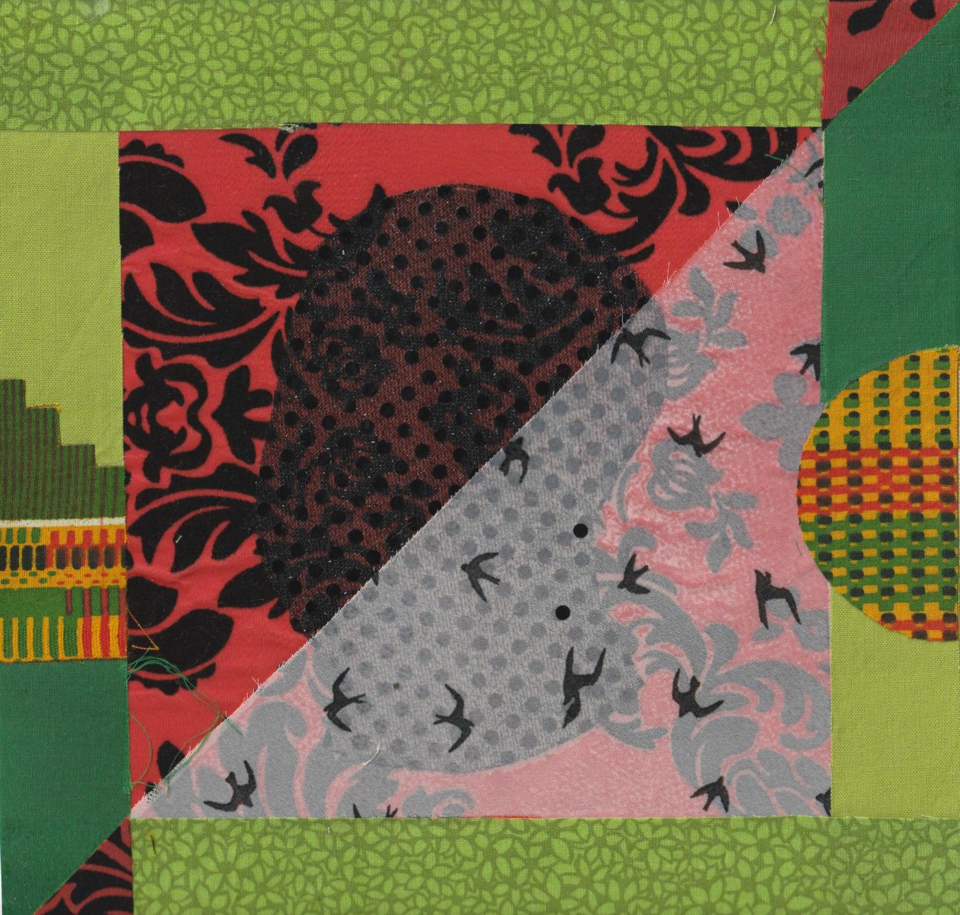 Drék Davis, Two For Ogoun (Fertile Ground), Mixed Media Collage, 2020