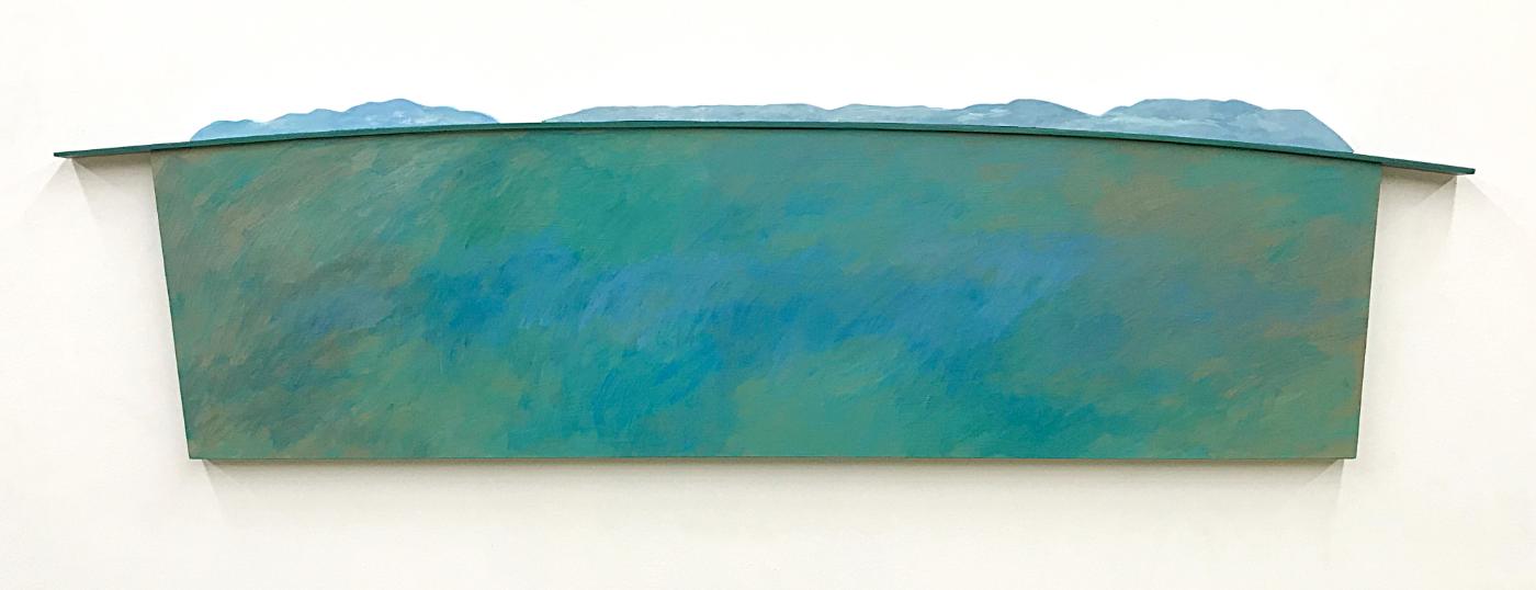 Big Ocean  18x72  Acrylic On Wood