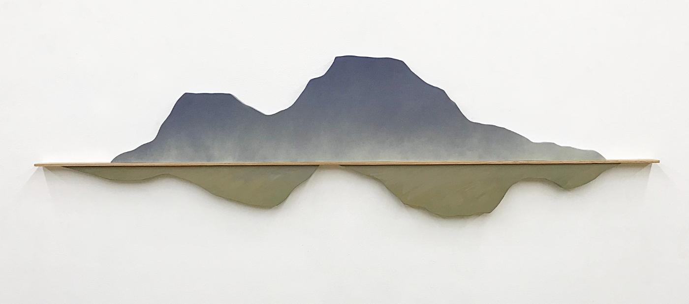 Mountain Landscape 18  X72  Acrylic On Wood