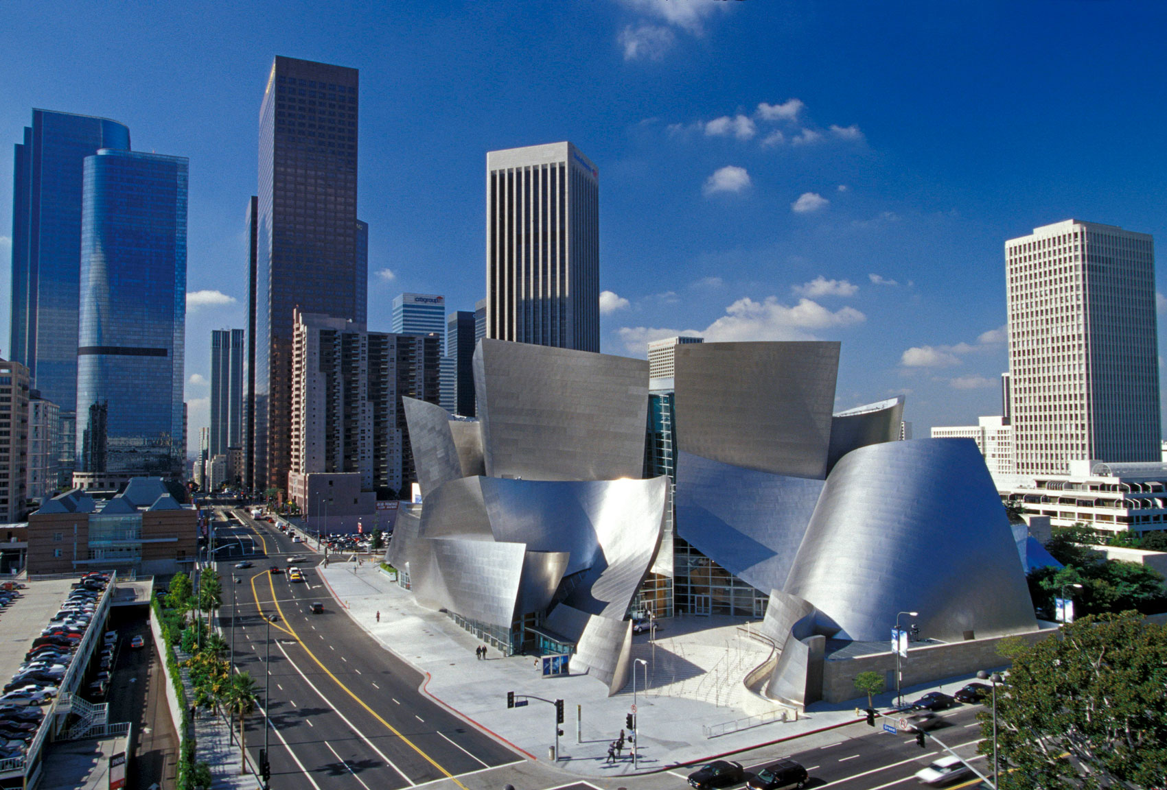 Walt Disney Concert Hall, Los Angeles, CA, Designed by Frank Gehry | © Frank O. Gehry. Getty Research Institute, Los Angeles (2017.M.66), Frank Gehry Papers