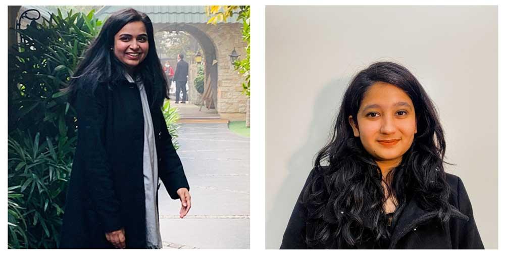 From left to right: Anshia Badyal and Aishwarya Pai
