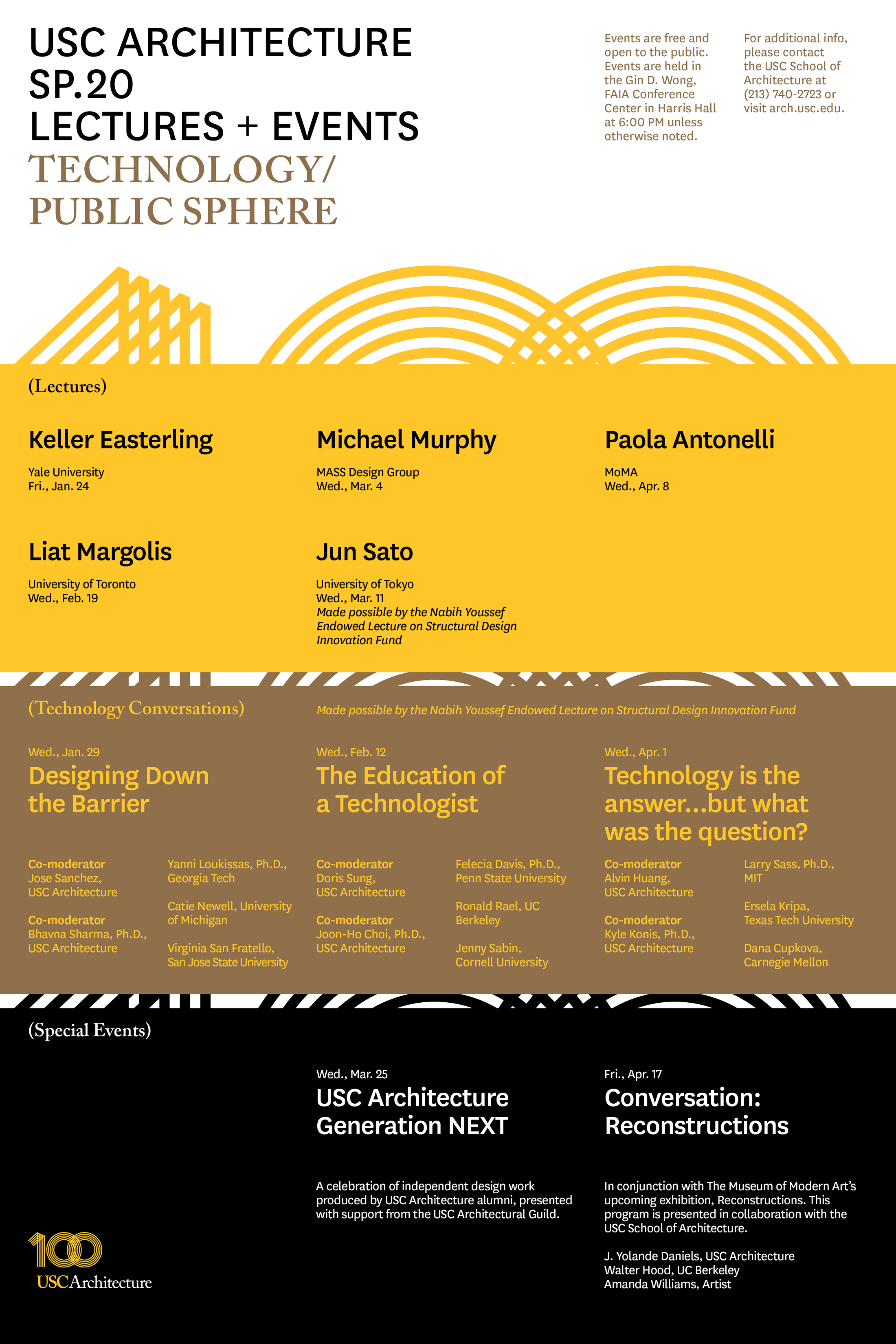 Free and open to the public, the highly anticipated spring lineup features prominent architecture & art industry leaders exploring how emerging technologies influence the public sphere & design