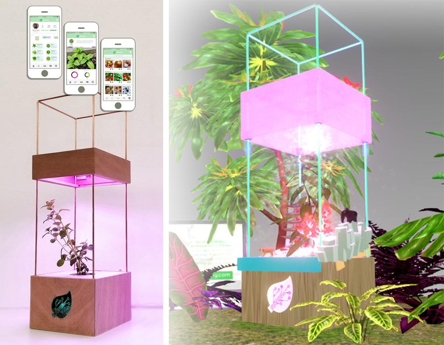The Growy unit & AR interface