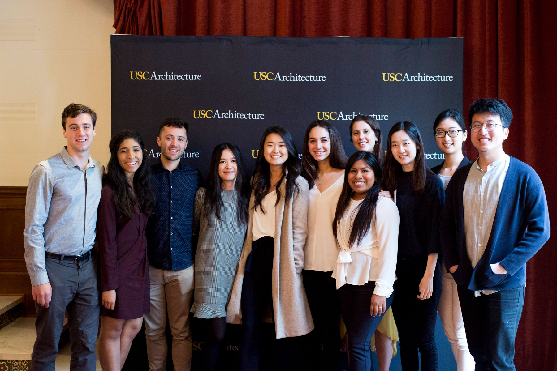 USC Architecture student scholars at the 2019 Annual Dean's Scholarship Luncheon.