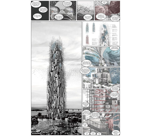 "In June, B.Arch students Hao Wen and Zhou Li received the Director's Choice award in the international Reside Mumbai design competition for their ""Sea Piercer"" project."
