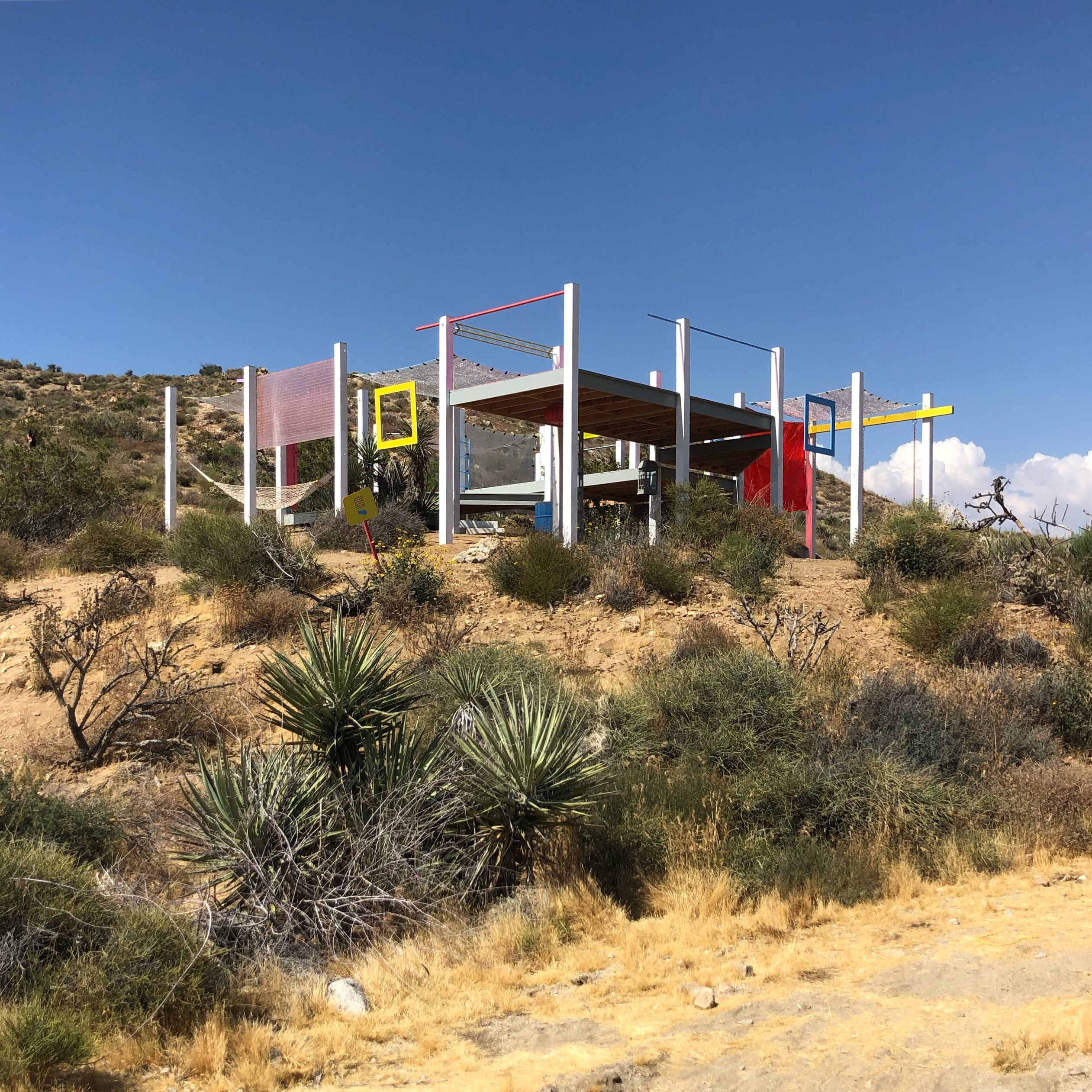 Office Kovacs with Kyle May Architect DOTS, A Camping Pavilion, Morongo Valley, California, 2019