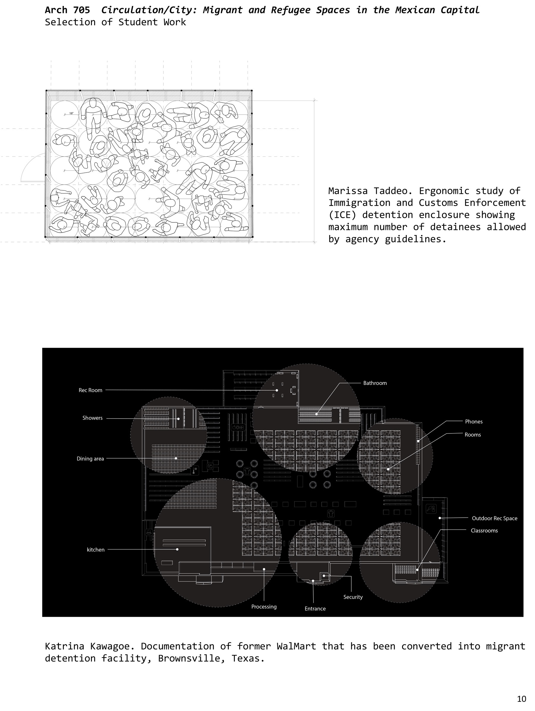 """Selected work from Marcos Sanchez's studio, """"Circulation/City: Migrant and Refugee Spaces in the Mexican Capital"""""""