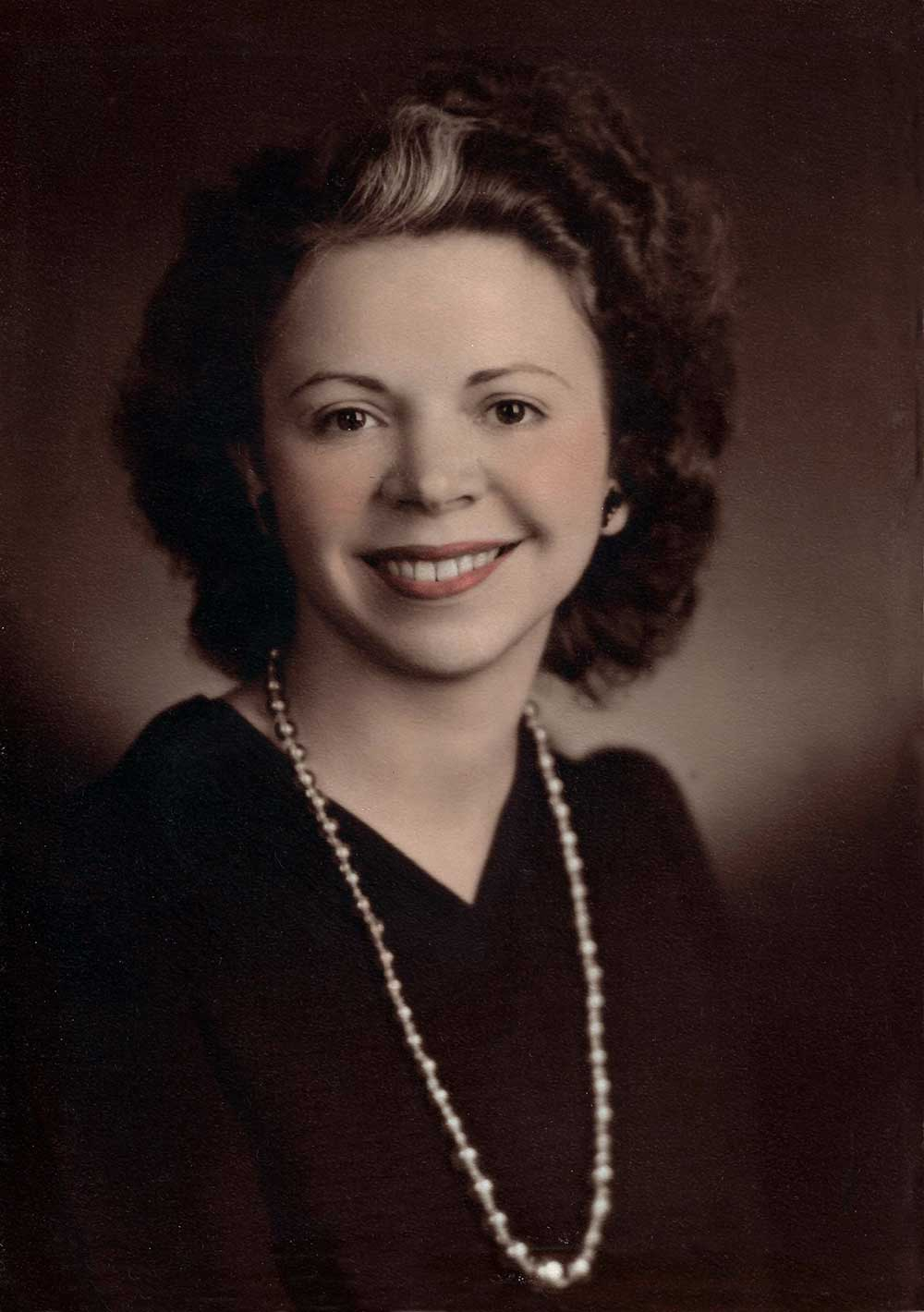 Alice Christine Roberts Hall, circa 1945. Photo courtesy of Peyton Hall.