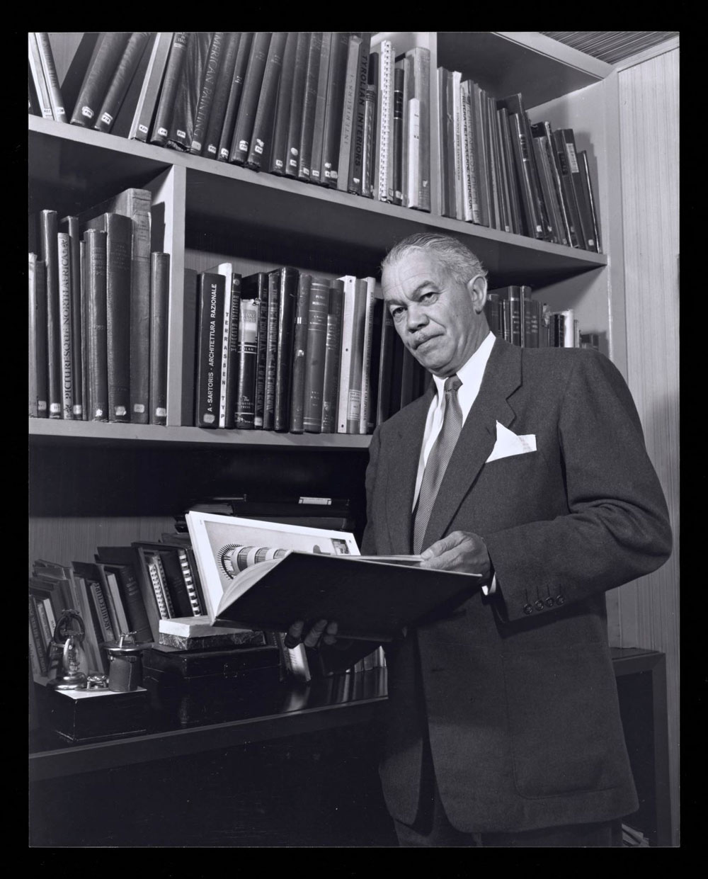 Portrait of Paul R. Williams, photography by Julius Shulman, 1952, Gelatin Silver Print, © J. Paul Getty Trust. Getty Research Institute, Los Angeles (2004.R.10)