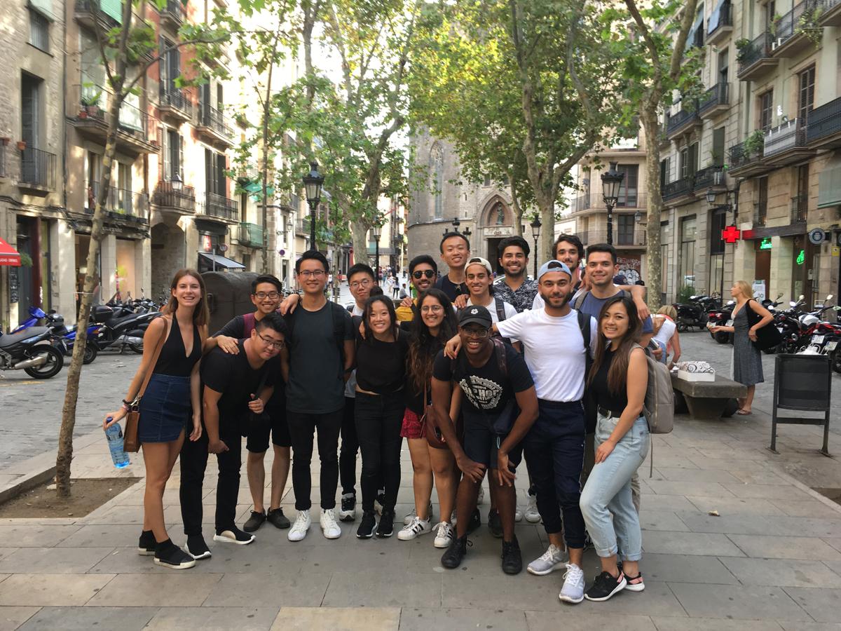 Barcelona program students exploring the Born area of the Ciutat Vella, Barcelona, September 2018