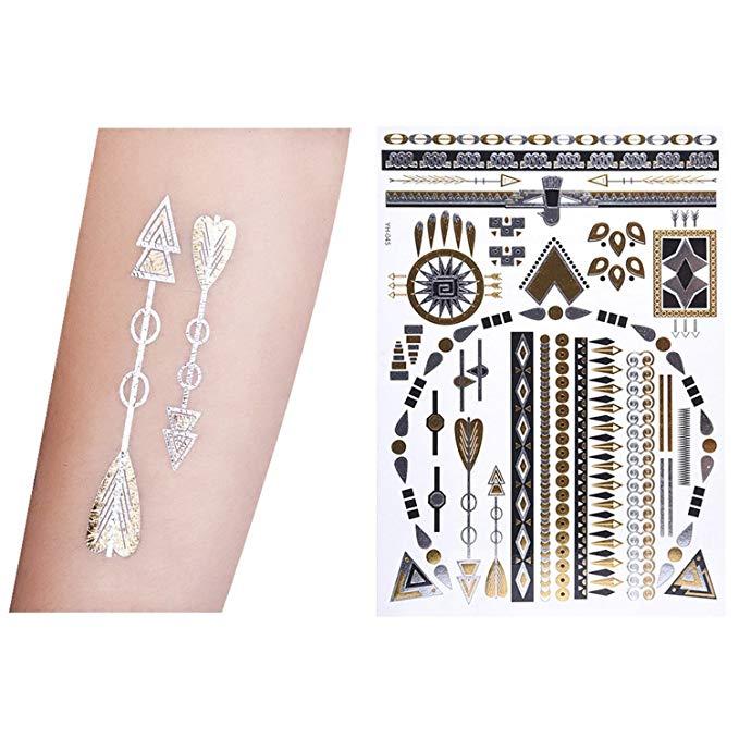 10 Hojas de Tatuajes Adhesivos
