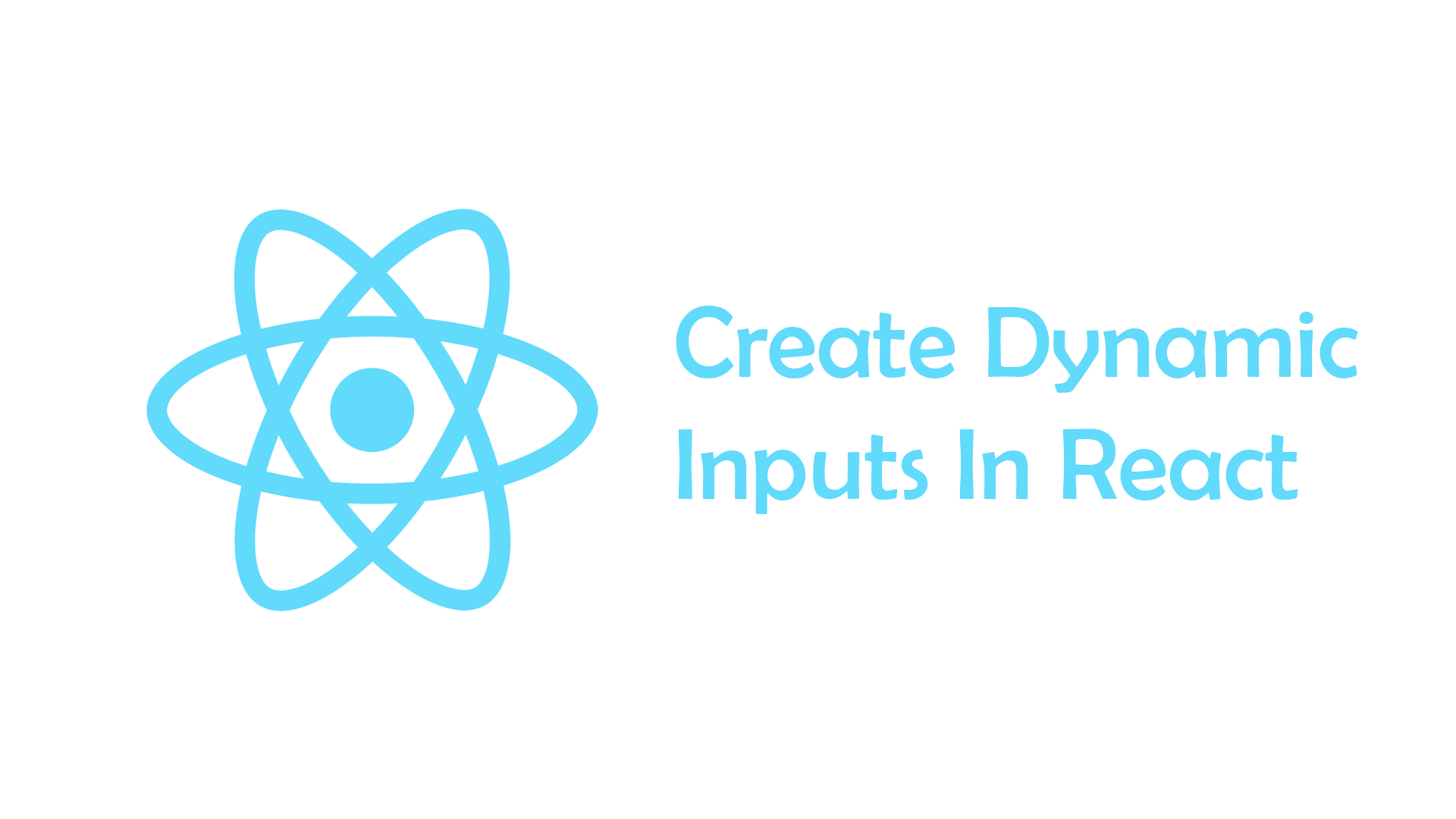 How to create dynamic inputs in react
