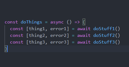 How to use async await syntax the cleanest way