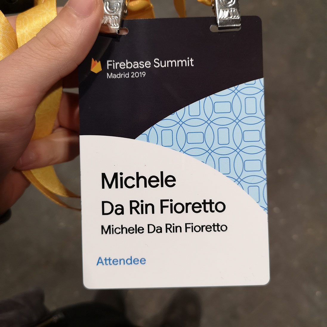 Michele Da Rin Fioretto Attendee Badge