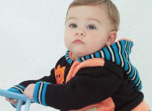 Casaco de tricô para bebê