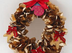 Guirlanda de Natal com bulas