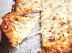 Pão de couve-flor com queijo