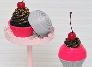Porta-jóia cupcake de brigadeiro
