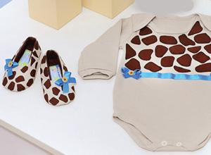 Body com estampa de girafa