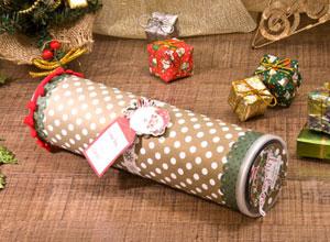 Embalagem de Natal com pote de batata