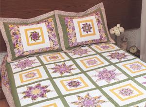 Jogo de cama com patchwork