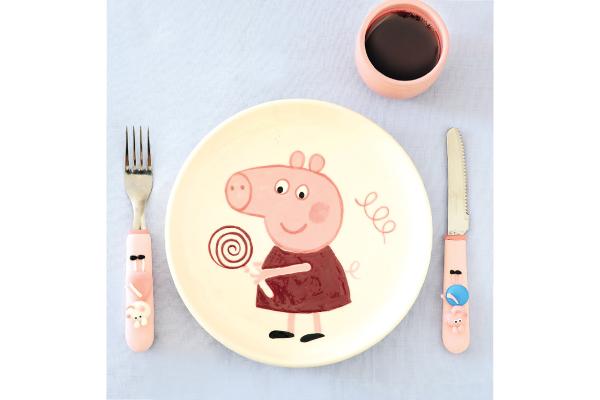 Prato e copinho personalizados Peppa Pig