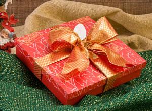 Caixa para presente de Natal