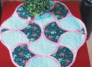 Centro de mesa com patchwork