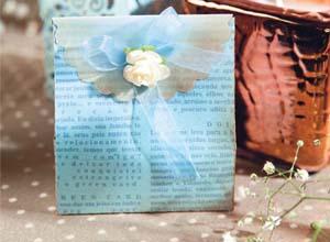 Embalagem para lembrancinha azul bebê