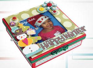 Caixa natalina de scrap décor