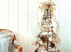 Árvore de Natal com cipó