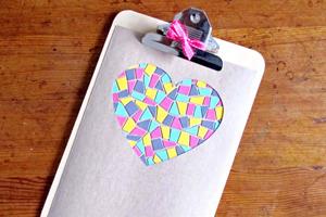 Cartão com mosaico para o dia dos namorados