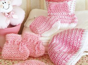 Crochê em tons de rosa