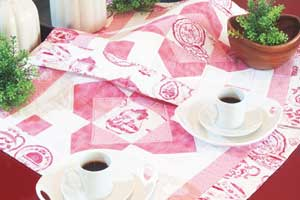 Jogo de mesa com patchwork