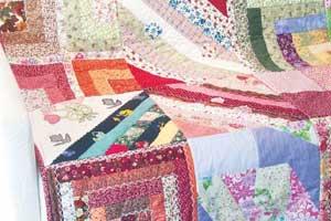 Manta de sofá com patchwork 2