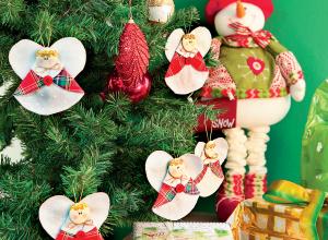 Enfeite de Natal feito à mão