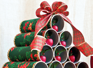 Árvore de Natal com cilindros