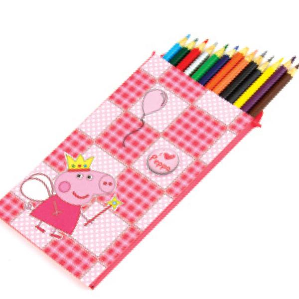 Caixa de lápis Peppa Pig com scrap