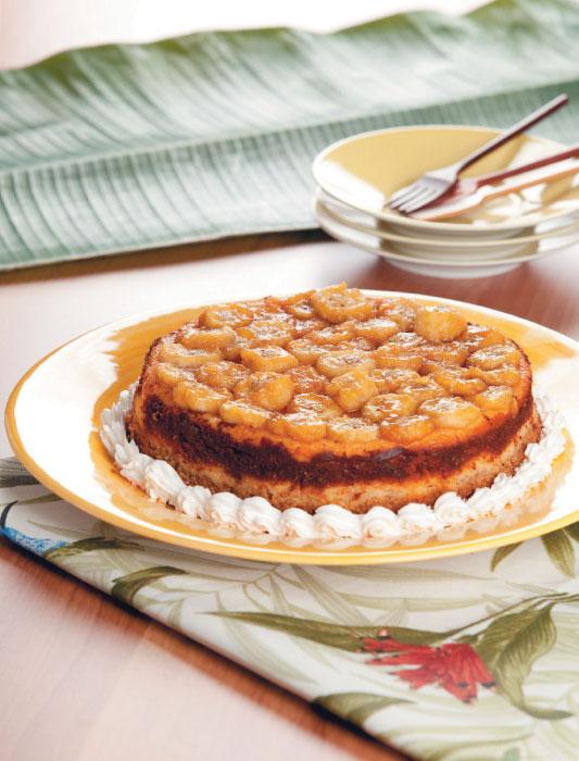 Cheesecake de baunilha e banana