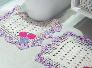 Kit para banheiro de crochê