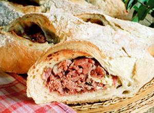 Pão europeu  recheado