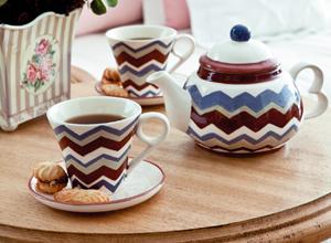 Jogo de chá com pintura 2