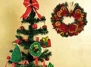 Enfeites de Natal em ponto russo