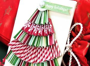 Cartão de Natal com relevo