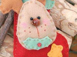 Bota natalina de feltro