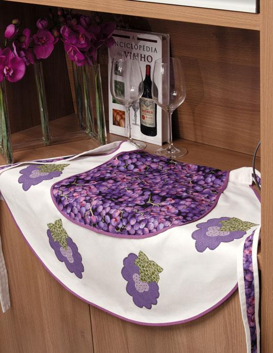 Avental de uva com patchwork