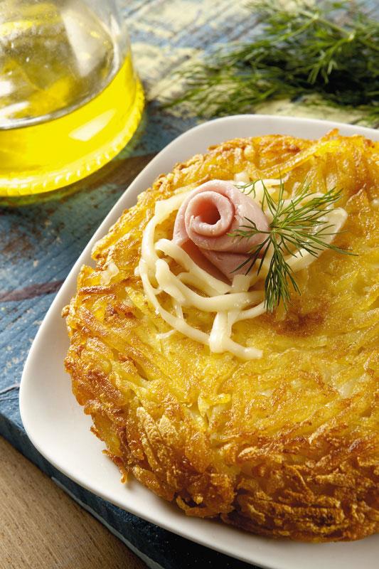 Batata suiça recheada com presunto e queijo