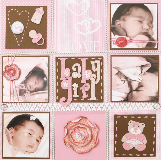 Inspire-se no scrap e crie layouts para seu bebê