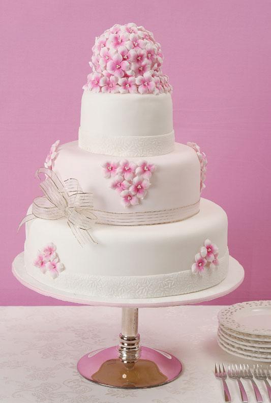 Buquê para bolo com flores de biscuit
